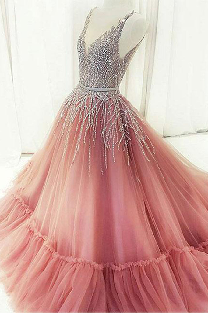 Stunning sequins long customize evening dress, long formal prom ...