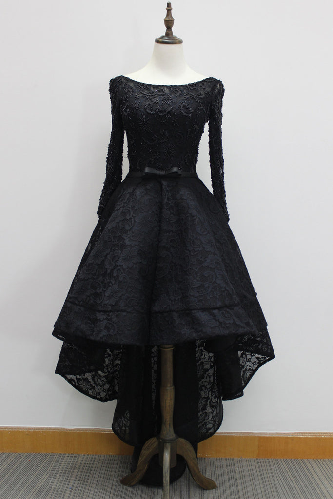 Black Lace A-Line Dress