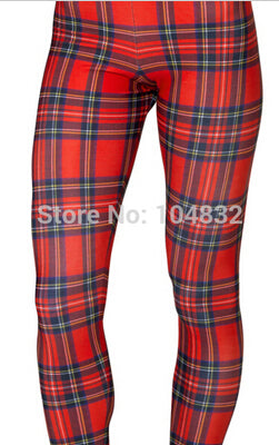Sweet 16 Dresses | EAST KNITTING X-355 2015 Women New Tartan Red Toasties Leggings Montage Red Punk Leggings Plus Size  XL