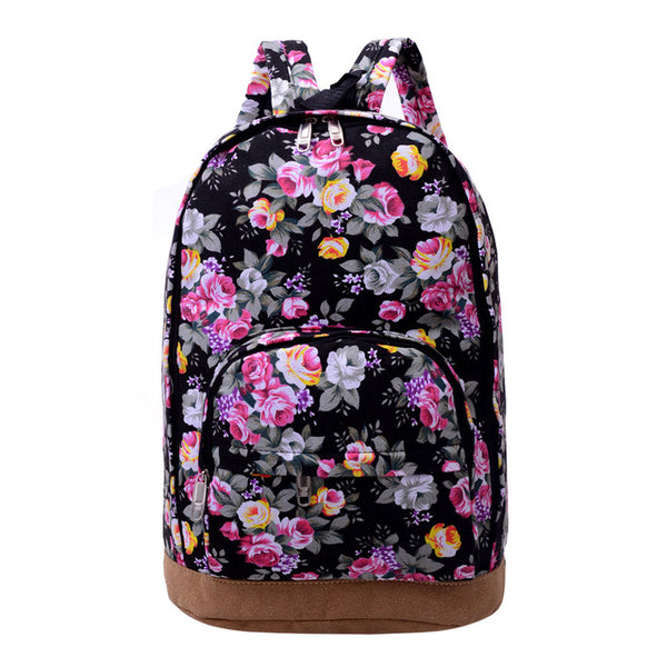 2019 Prom Dresses | Chinese Style Flower Printed Backpack Women Canvas Large Capacity Colorful Street Travel Back Pack Bag Schoolbags