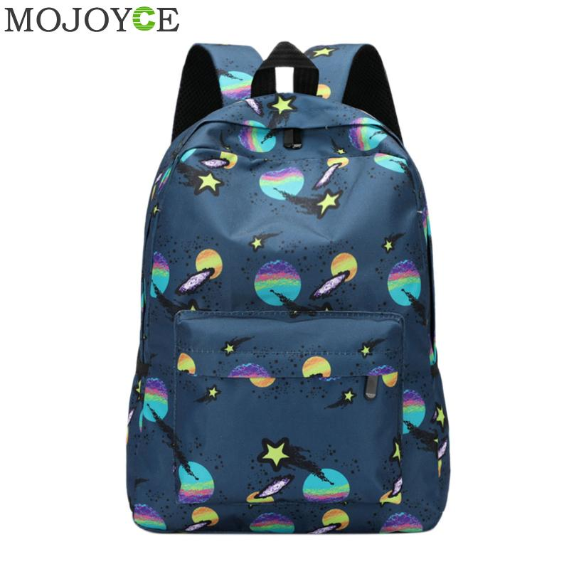 fd91a3710d Women Stars Printing Backpack Fashion Canvas Backpack School ...