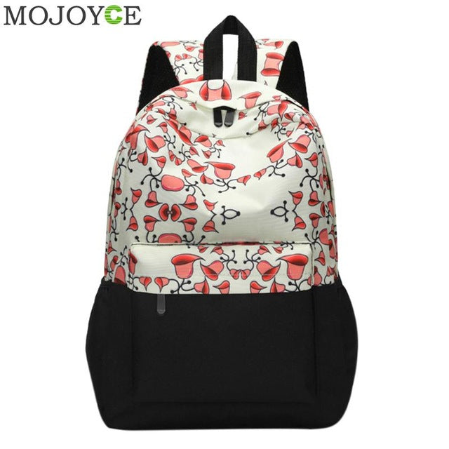 0066624d89 Women Printing Backpacks Fashion Canvas Backpack Retro Casual ...