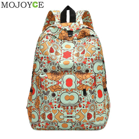 Sweet 16 Dresses | Floral Printing Women Backpack Fashion Designer School Bag For Teenage Girls Backpacks Female Canvas Travel Rucksack Women Bags