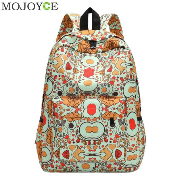 425b33f5c0 Floral Printing Women Backpack Fashion Designer School Bag For ...