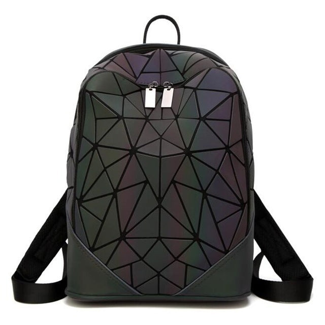 Sweet 16 Dresses | Fashion Women backpack PVC geometric luminous backpack 2018 new Travel Bags for School Back Pack holographic backpacks LB942