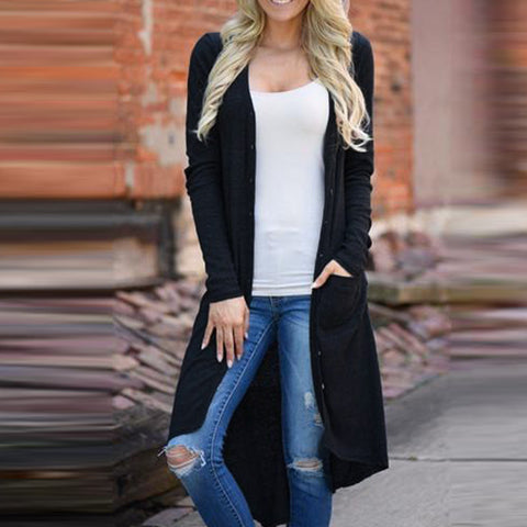 New ZANZEA Women V Neck Buttons Dowm Pockets Long Sleeve Asymmetric Hem Casual Coat Solid Slim Knitted Jacket Cardigan Plus Size