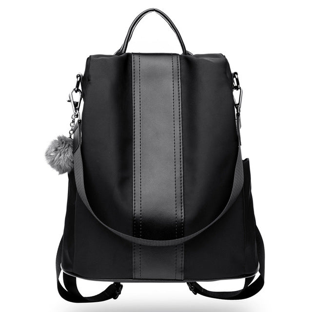 b9d30f40c07d Herald Fashion Quality Nylon Backpack Women Patchwork Casual Daily packs  Female Anti-Theft School Backpacks For Teenage Girls