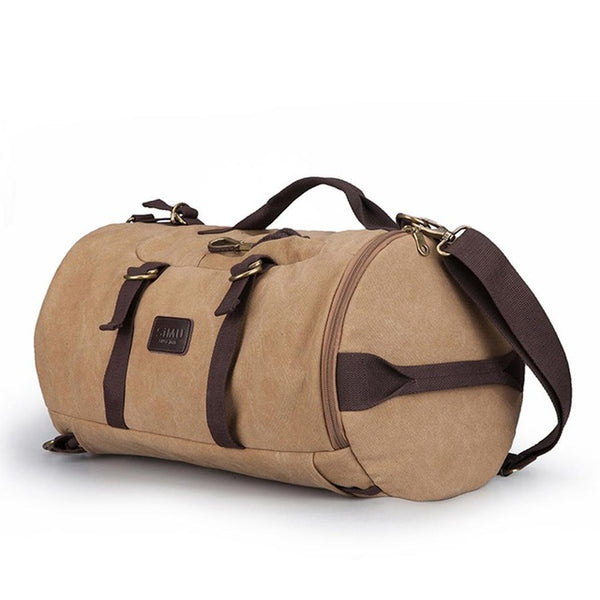 2019 Prom Dresses | Backpack Canvas Oversized Duffel Bag Overnight Travel Men Weekend Bag