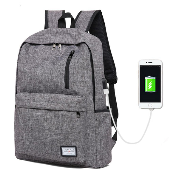 2019 Prom Dresses | Backpack External USB Charging Interface Large Capacity Travel Fashion School Bag