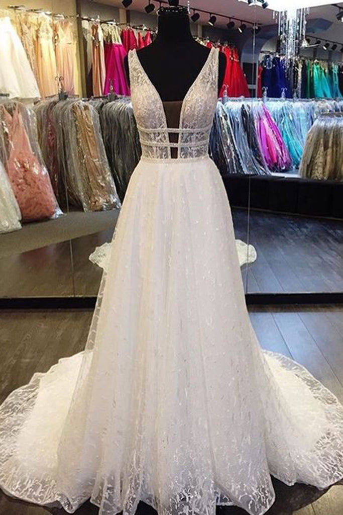 1d5d6272b9b white lace long train V neck wedding dress formal dress 1024x1024.jpg v  1527044553