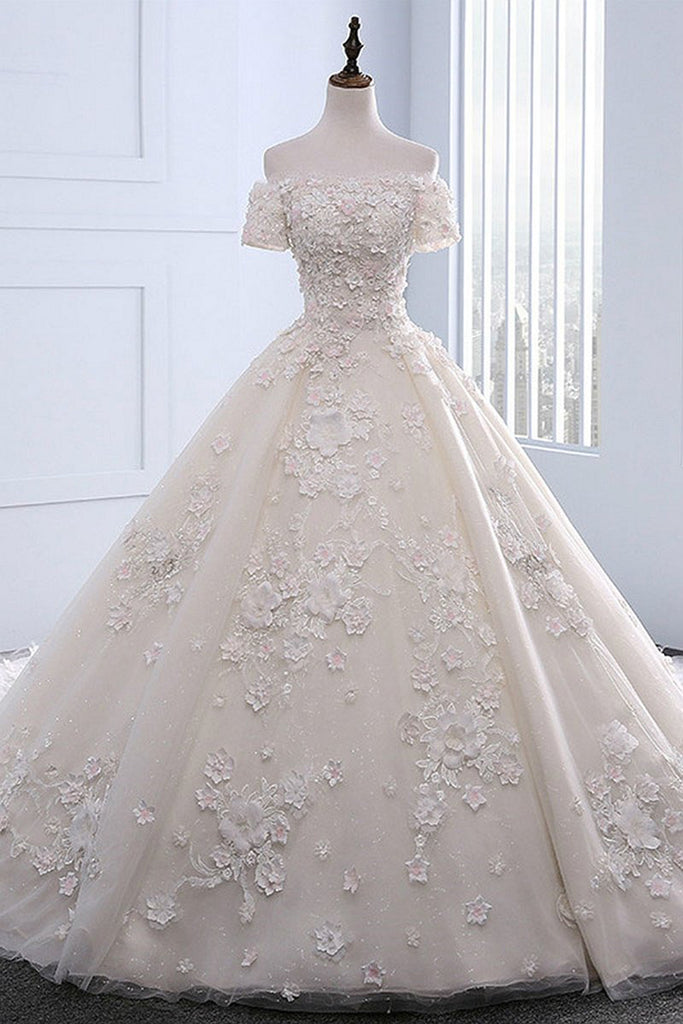 Ivory strapless sweep train off shoulder lace wedding dress with sweet 16 dresses ivory strapless sweep train off shoulder lace wedding dress with sleeves junglespirit Gallery