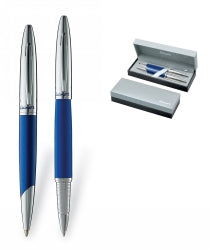 PEN LUXOR HOOPER SET BLUE  BP & RB  BLACK MEDIUM POINT INK