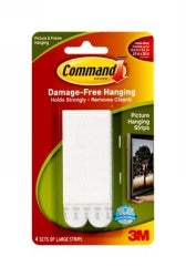 PICTURE HANGING STRIP COMMAND LARGE 17206 PK4
