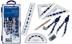 MATHS SET STAEDTLER PRO GRIP 8 PIECES