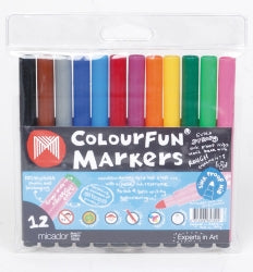 MARKER MICADOR COLOURFUN MED POINT ASST WLT12