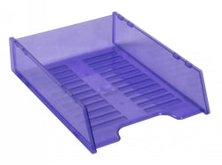 DOCUMENT TRAY ITALPLAST  MULTIFIT TRANSLUCENT PURPLE