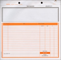 SNAP SET CARBONLESS INVOICE/DELIVERY 3 PART