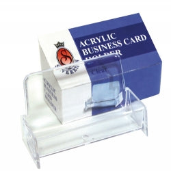 BUSINESS CARD HOLDER SOVEREIGN ACRYLIC CLEAR/SMOKE