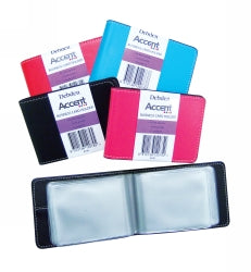 BUSINESS CARD HOLDER DEBDEN ACCENT RED 24 CAPACITY