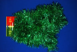 TINSEL XMAS 100MMX5M GREEN