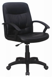 CHAIR HARMONY SOFT PU MATERIAL LUMBAR SUPPORT BLACK