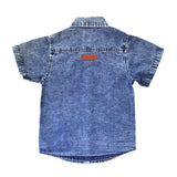 Denim Acid Wash Shirt Blue