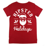 Hipster Holidays Tee - Red