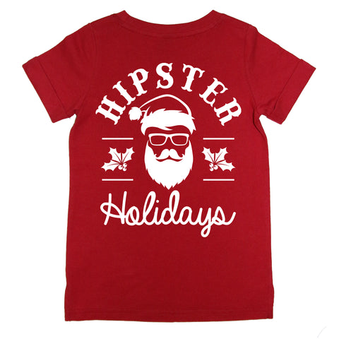 Hipster Holidays Tee - Red (COMING SOON)
