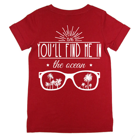 Ocean Tee - Red (COMING SOON)