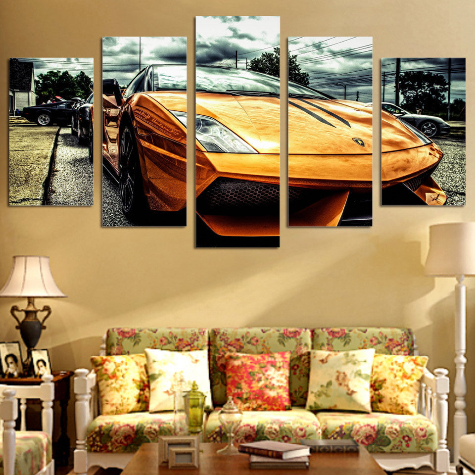 lamborghini 5 piece canvas Wall Art – ShopperDesigns