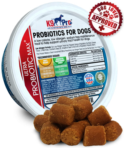 K9 PRO Probiotics For Dogs - Tasty Soft Chewable Treats 7 Billion CFU - k9pro-store