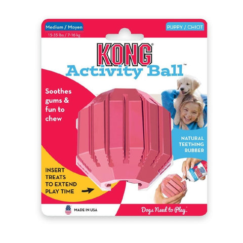 KONG ACTIVITY BALL PUPPY MEDIUM PINK | Southside Stockfeeds Kilmore