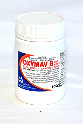 OXYMAV B 100G FOR BIRDS POWDER | Southside Stockfeeds Kilmore