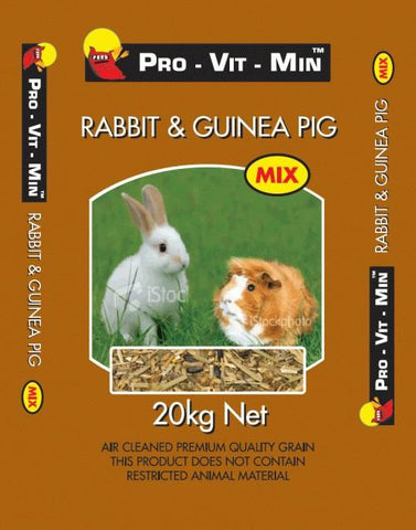 RABBIT & GUINEA PIG MIX 20KG PRO VIT MAN | Southside Stockfeeds Kilmore