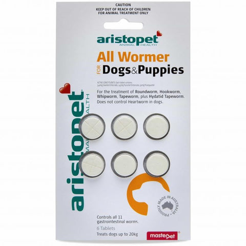 ARISTOPET ALL WORMER DOGS AND PUPPIES 6PK | Southside Stockfeeds Kilmore