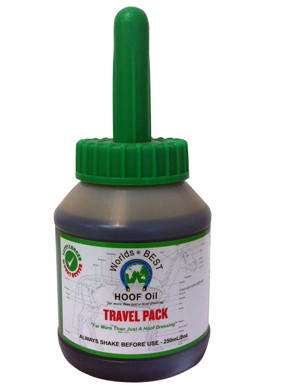 WORLDS BEST HOOF OIL TRAVEL PACK 250ML