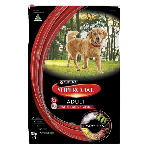 SUPERCOAT ADULT DOG CHICKEN 18KG | Southside Stockfeeds Kilmore