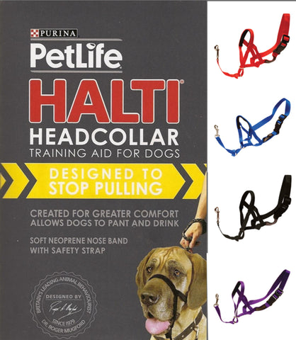 PETLIFE HALTI HEAD COLLAR BLACK EXTRA LARGE | Southside Stockfeeds Kilmore