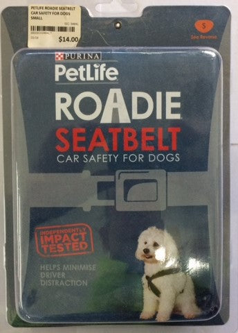 PETLIFE ROADIE SEATBELT CAR SAFETY FOR DOGS SMALL | Southside Stockfeeds Kilmore