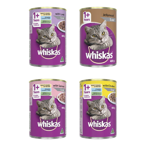 WHISKAS CAT ALL VARIETIES 24X400GR | Southside Stockfeeds Kilmore