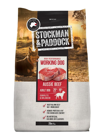 STOCKMAN & PADDOCK BEEF WORKING DOG 20KG | Southside Stockfeeds Kilmore