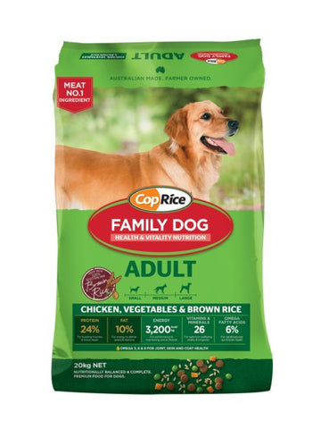 COPRICE FAMILY DOG FOOD 20KG CHICKEN, RICE, KELP AND GARLIC | Southside Stockfeeds Kilmore