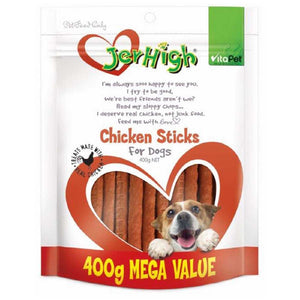 VITAPET JERHIGH CHICKEN STICKS 400G FOR DOGS