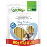 VITAPET JERHIGH MILKY STICKS 400G FOR PUPPIES | Southside Stockfeeds Kilmore