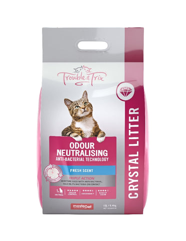 TROUBLE AND TRIX CRYSTAL CAT LITTER 15L | Southside Stockfeeds Kilmore
