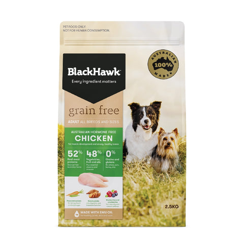 BLACKHAWK DOG GRAINFREE CHICKEN 2.5KG | Southside Stockfeeds Kilmore
