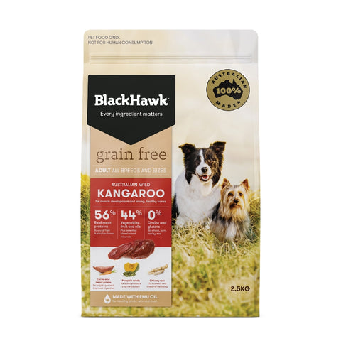 BLACKHAWK DOG GRAINFREE KANGAROO 2.5KG | Southside Stockfeeds Kilmore