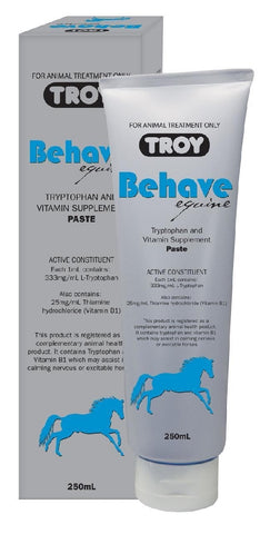 TROY BEHAVE EQUINE PASTE 250ML | Southside Stockfeeds Kilmore
