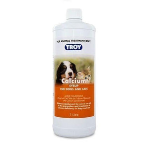 TROY CALCIUM SYRUP DOGS AND CATS 1LT