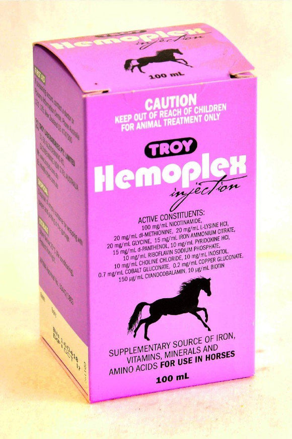 TROY HEMOPLEX INJECTION 100ML HORSES